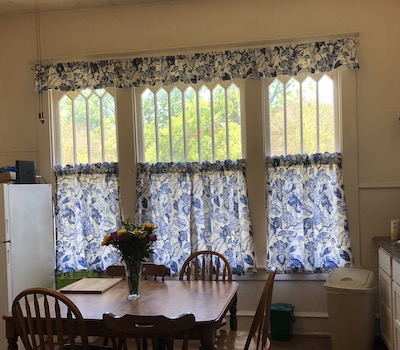 New Blue floral curtains