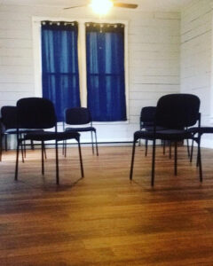 Chairs arranged for Quaker meet